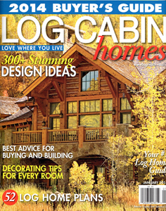 Log Cabin Homes Cover Press